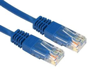 0.25 m Blue Cat5e patch lead