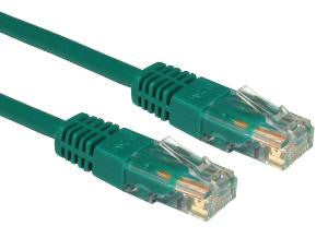 1 m Green Cat5e patch lead