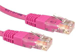 0.25 m Pink Cat5e patch lead