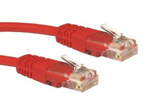 3 m Red Cat5e patch lead