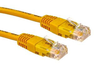 0.25 m Yellow Cat5e patch lead