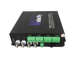 Velocity-4 Channel MM Video+Bi RS485 Data +Bi Switch MM, SC Tx/Rx pair