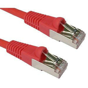 Matrix Cat 6A S/FTP Patch Leads Red-0.5 metres