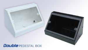 Double pedestal Box White