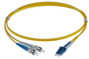 3m FC-LC singlemode - 2mm duplex patchcord YELLOW