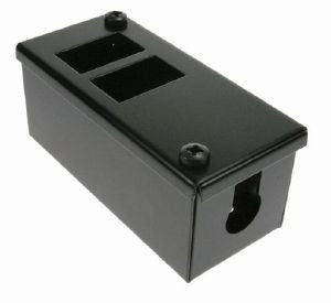 Horizontal 2-way Data Box: 2 x 6C data cut-outs: with 1 x 25mm gland hole