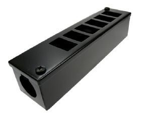 Horizontal 6-way Data Box-6 x 6C data cut-outs with 1 x 32mm gland hole