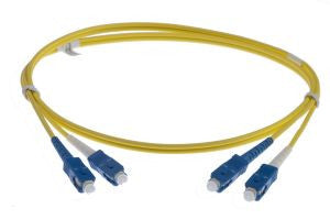 12m SC-SC singlemode Duplex Patchcord 3mm Jacket Yellow