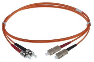 1m SC-ST 50/125um - 3mm duplex patchcord ORANGE