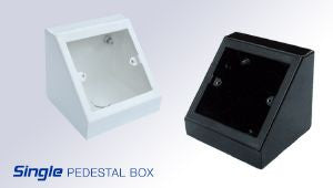 Single pedestal Box White