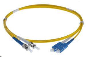 10m SC-ST singlemode Duplex Patchcord 3mm Jacket Yellow