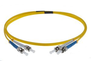 1m ST-ST singlemode Duplex Patchcord 3mm Jacket Yellow