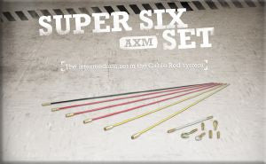 Super-Rod Rod Kits-Super Six Set 6 metres-4 Rod Flexibilities