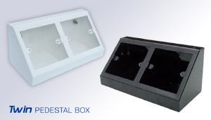 Twin pedestal Box White