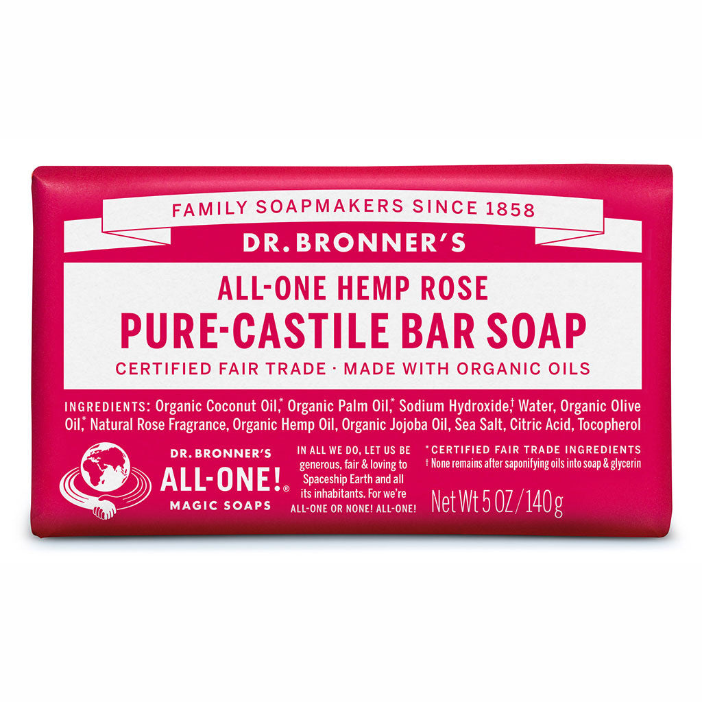 Dr. Bronner's Pure-Castile Bar Soap - Rose