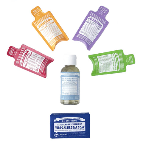 Dr Bronner's - Deluxe Sample Pack Supporting Orange Sky in February & March