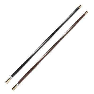 Leather Covered Show Cane with Gold Plated Tips - Black or Brown