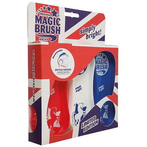 MAGIC BRUSH - Set of 3 Brushes  Union Jack Limited Edition