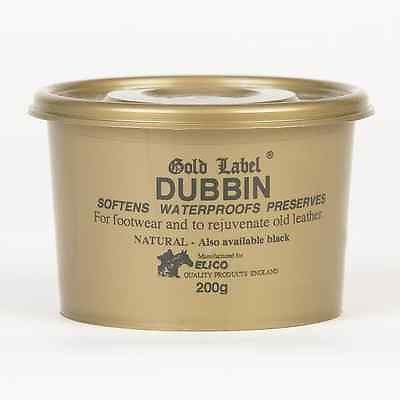 GOLD LABEL DUBBIN - 200G LEATHER WATERPROOFS SOFTENS PRESERVES BOOTS TACK SHOES