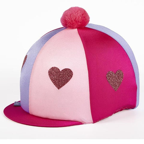 Capz Lycra Glitter Hearts with pom-pom
