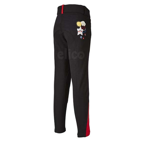 Elico Alex Childrens Breeches Black & Red