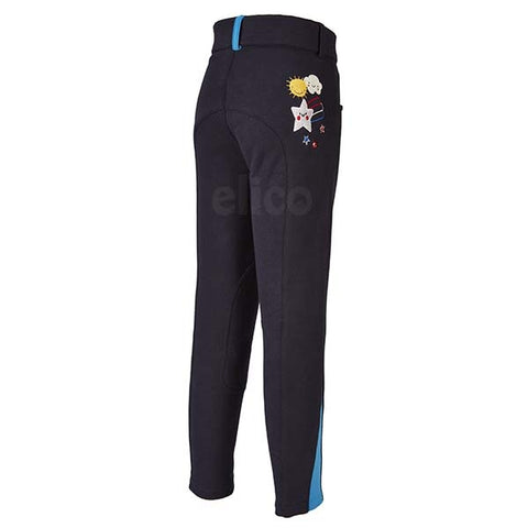 Elico Alex Childrens Breeches Black & Blue