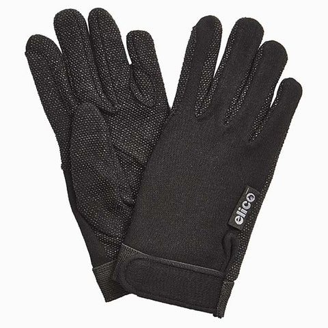 Elico Ripley Cotton Gloves Black
