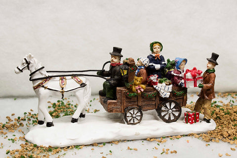 Family with Carriage Scene