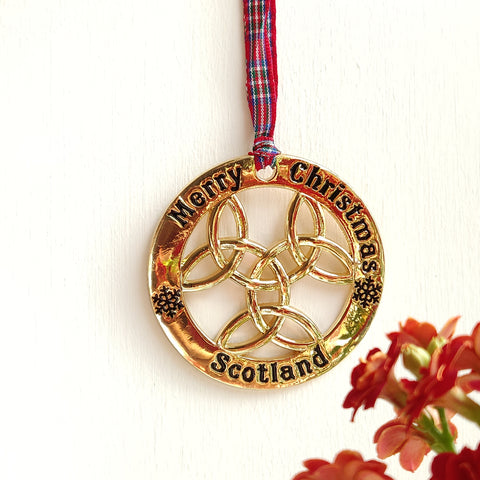 Scottish Hanging Celtic Knot Christmas Roundel