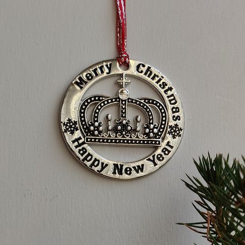 Scottish Hanging Christmas Roundel Crown