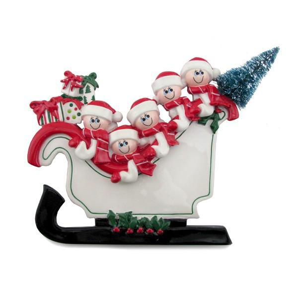 Table Top Sleigh Family of 5