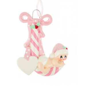 Girl Baby Candy Cane