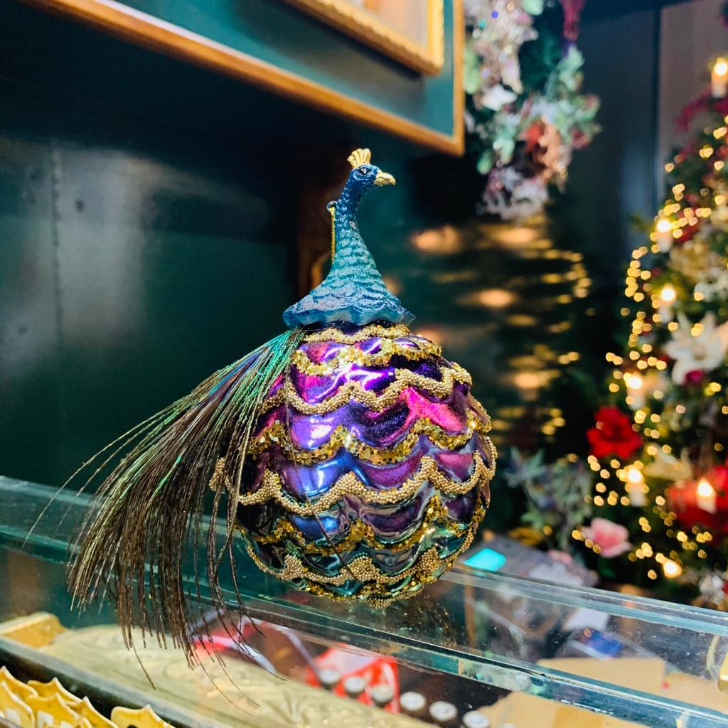 Colourful Peacock Hanging Decoration