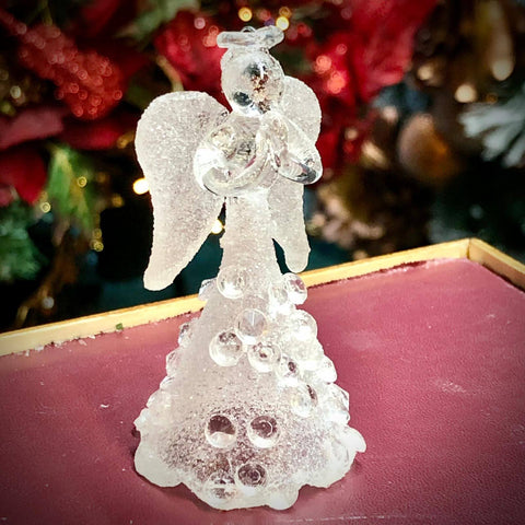Frosted Angel with Diamaonds