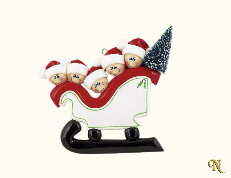 Sleigh Family Of Five