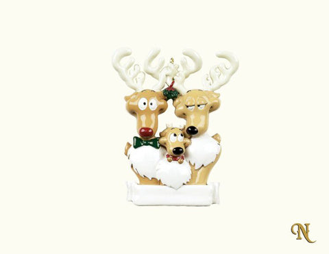 Reindeer Family Of Three
