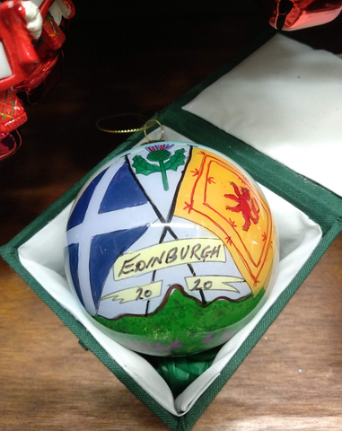 Scottish Flags Hand-painted Bauble