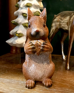 Brown Squirrel Standing Piece