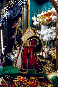 Tartan Santa with Tree and Sack