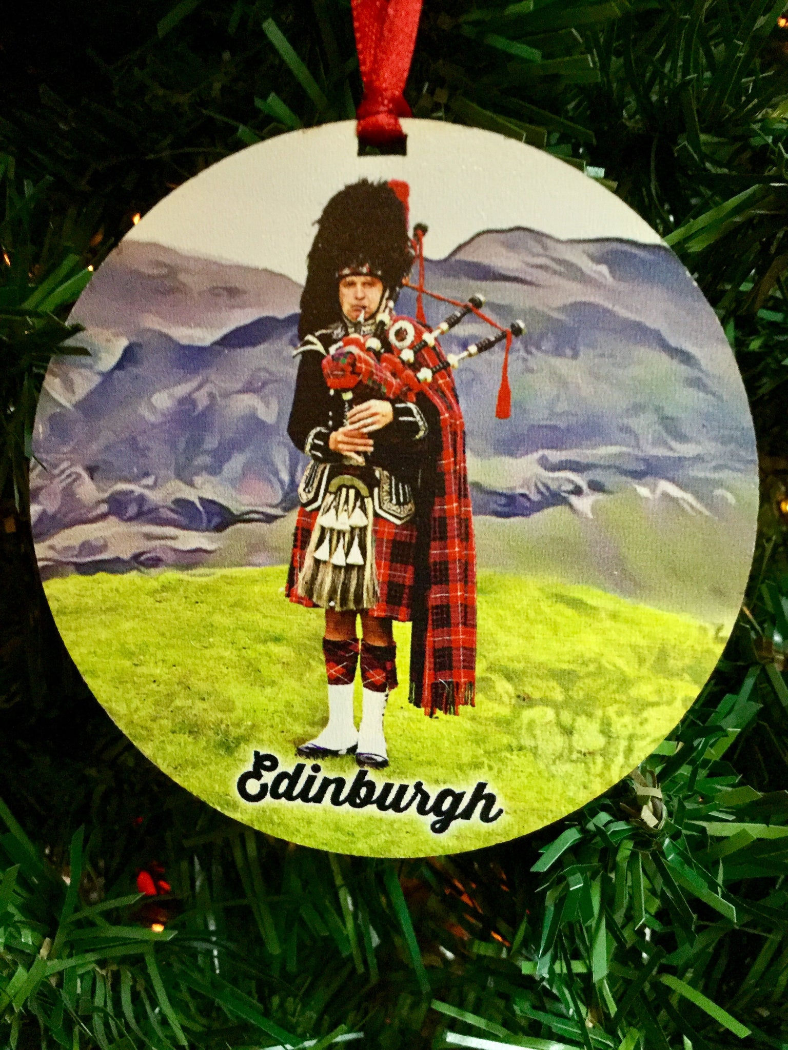 Scottish Piper Medallion