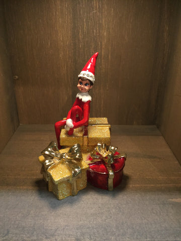 Elf on Presents Trinket Box