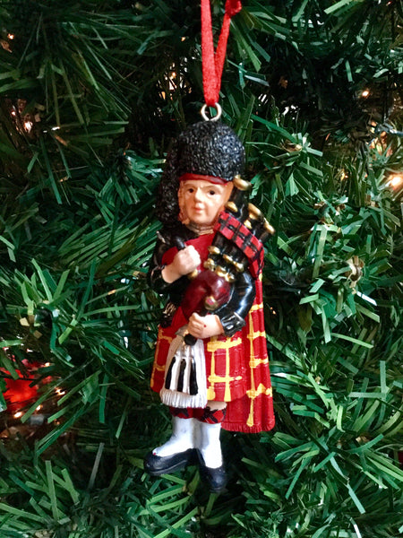 Large Scottish Piper Christmas decoration