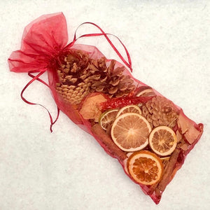 Large Cone, Cinnamon and Fruit Organza Bag