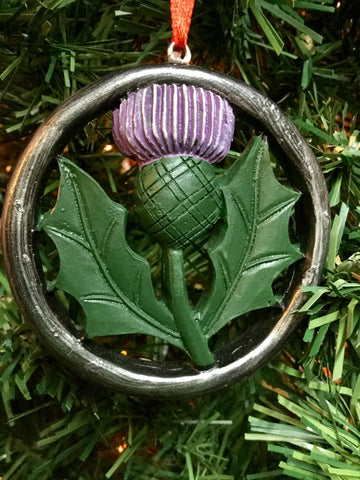 Large hanging Thistle Christmas decoration