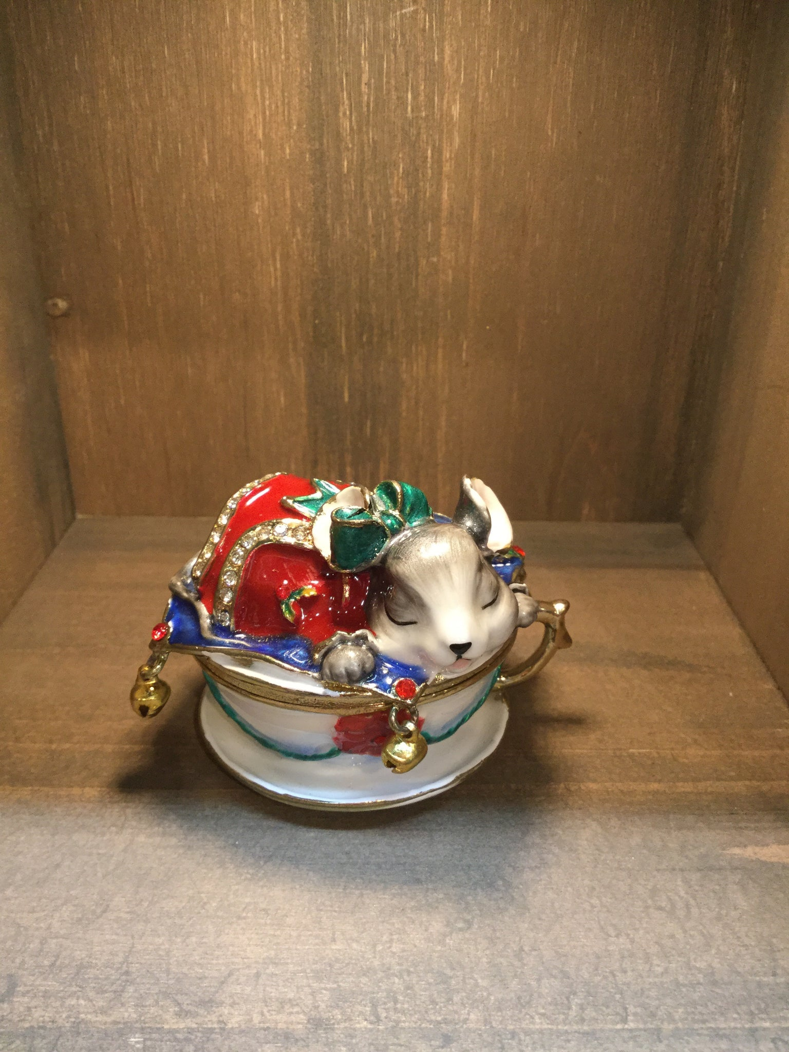 Mouse in a Cup Trinket Box