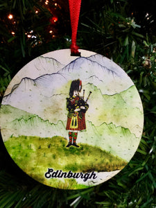 Piper Edinburgh Christmas Medallion