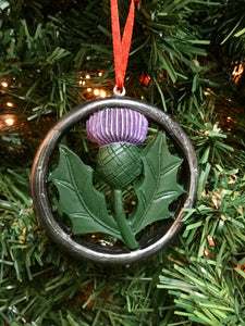 Small Christmas tree Thistle Decoration