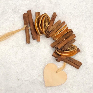 Cinnamon and Orange Garland: Heart