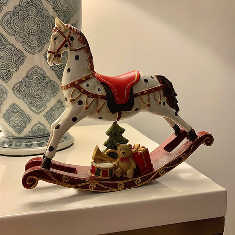 White Classical Rocking Horse