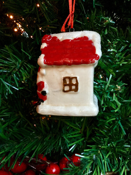 Hanging house tree decoration